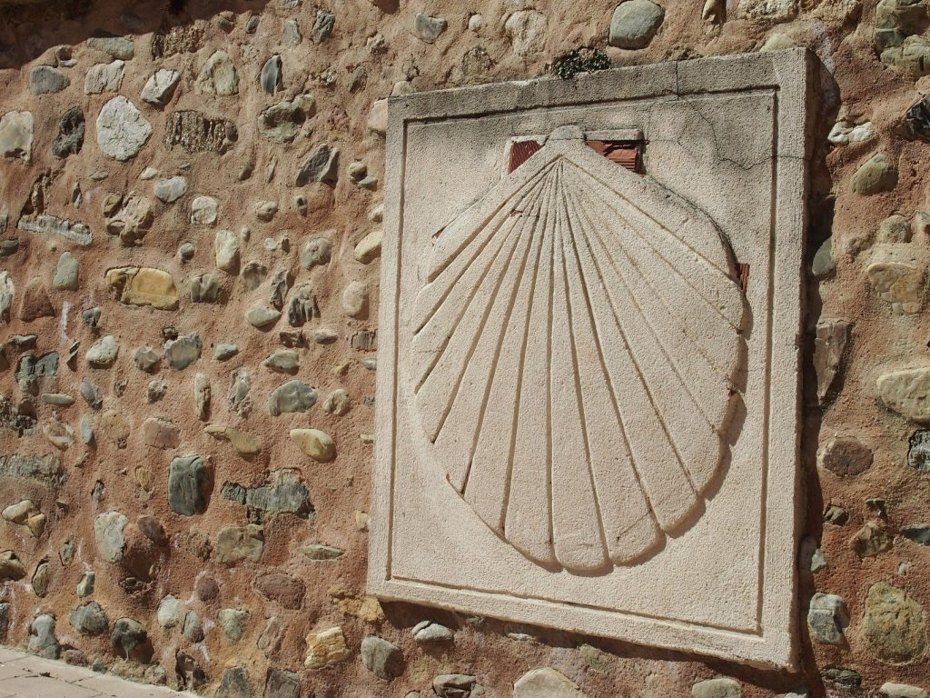 camino shell as waymarker